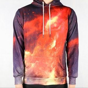Other - Red Nebula Galaxy Space Hoodie
